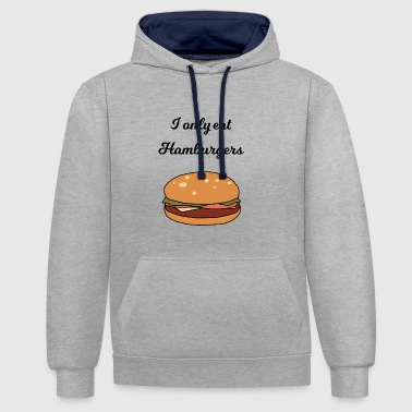 Hamburger hamburger - Sweat-shirt contraste