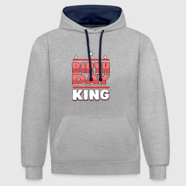 Birthday King - The Birthday King - Bluza z kapturem z kontrastowymi elementami