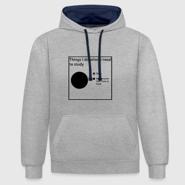 Students, apprentices learning - Contrast Colour Hoodie