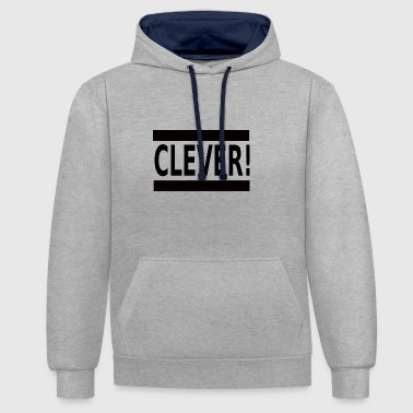 Clever Clever - Contrast Colour Hoodie