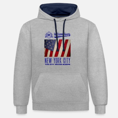 City New York City · Williamsburg - Contrast Colour Hoodie