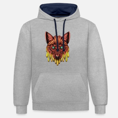 Melting Melting fox - Contrast Colour Hoodie