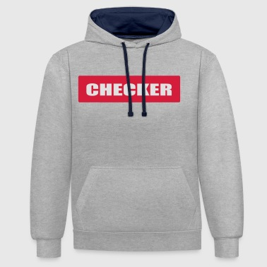Checkered Checker - Contrast Colour Hoodie