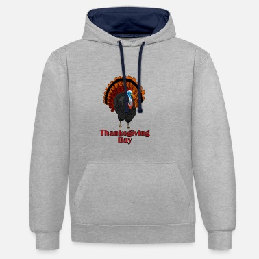 Day dinde de Thanksgiving - Sweat-shirt contraste