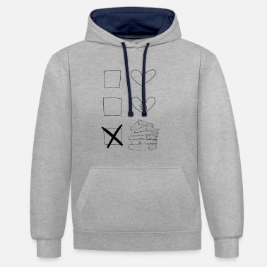 Book Lovers Taken Single Books - book lovers - Contrast Colour Hoodie
