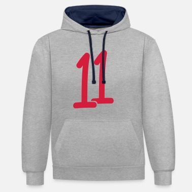 Eleven The eleven - Contrast Colour Hoodie