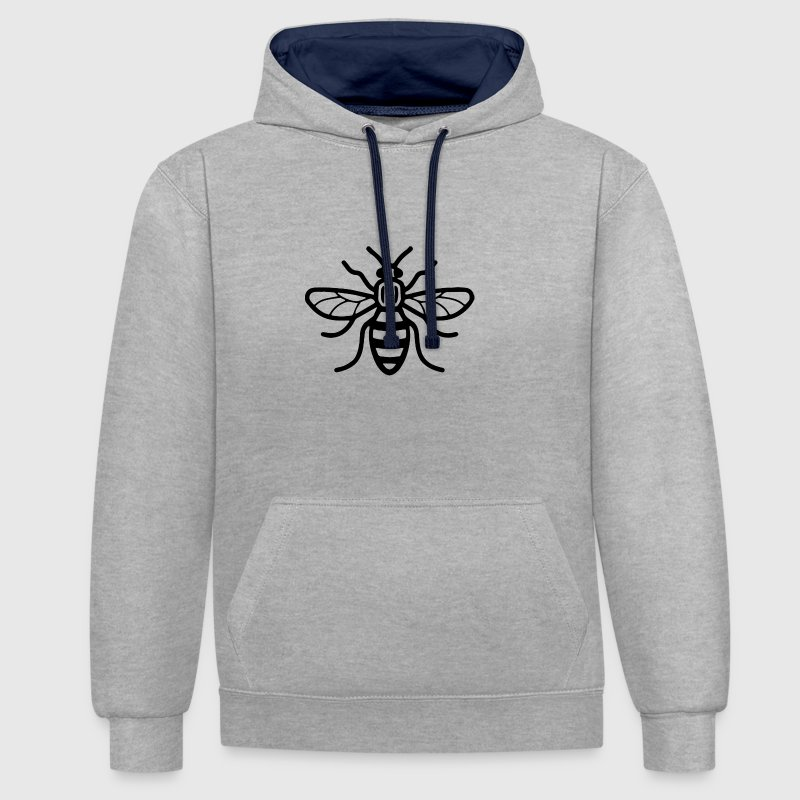 Manchester Bee - Contrast Colour Hoodie