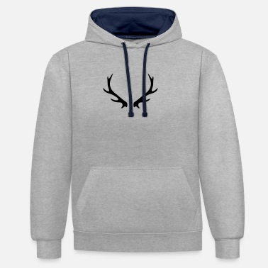 cerf - Sweat-shirt contraste