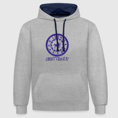 Signs of the Zodiac Sagittarius - Contrast Colour Hoodie
