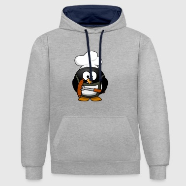 Cartoon Cartoon penguin 23 - Contrast Colour Hoodie
