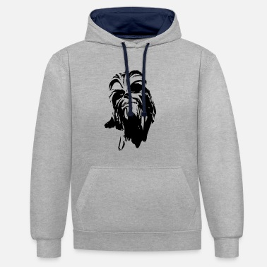 Chewbacca chewbacca monster fur hair star friend beard lase - Contrast Colour Hoodie