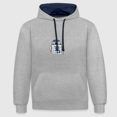 R2d2 R2D2 beaucoup? - Sweat-shirt contraste
