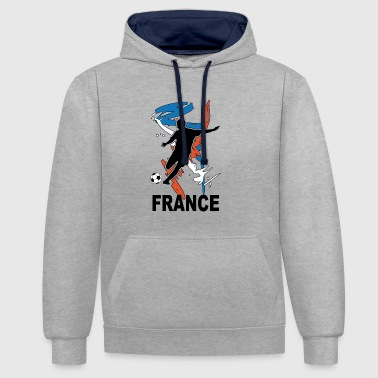 Football Bleu Blanc Rouge - Sweat-shirt contraste