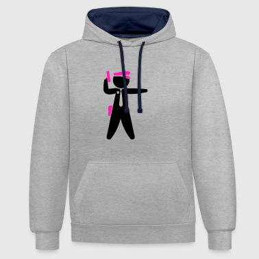 The Policeman - Contrast Colour Hoodie