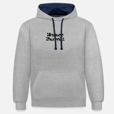 Beauty Therapist massage therapist - Contrast Colour Hoodie