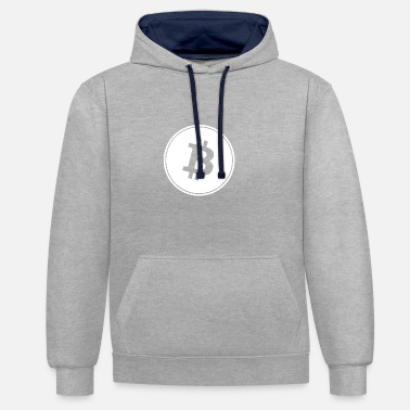Bitcoin in White Transparent. - Contrast Colour Hoodie