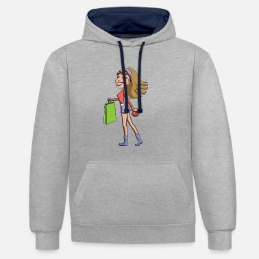 shopping Queen - Contrast Colour Hoodie