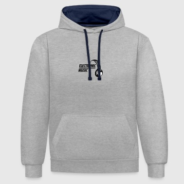 Electronic Music Electronic Music - Contrast Colour Hoodie