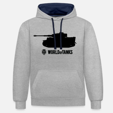 World Of Tanks WOT Male Shirt - Bluza z kapturem z kontrastowymi elementami