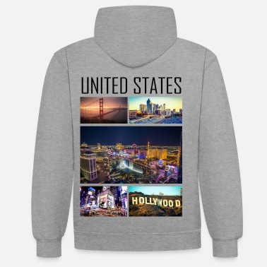 State United States - United States - Contrast Colour Hoodie