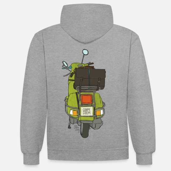 Vintage Collection V2 Hoodies & Sweatshirts - 2 wheels - Unisex Contrast Hoodie heather grey/navy