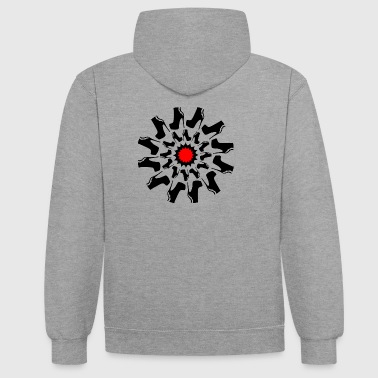 Tribal Tread On Me - Contrast Colour Hoodie
