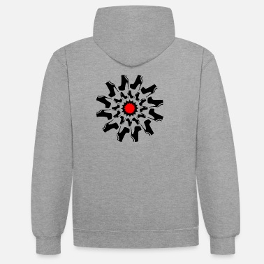 Tribal Tattoo Tread On Me - Contrast Colour Hoodie