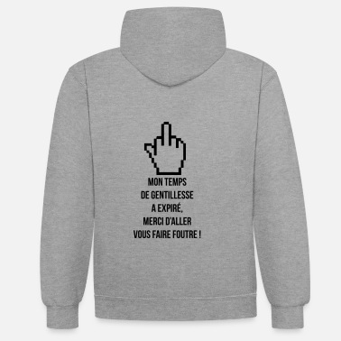 Provocation gentillesse - Sweat-shirt contraste