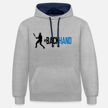 Backhand backhand 01 - Unisex Contrast Hoodie
