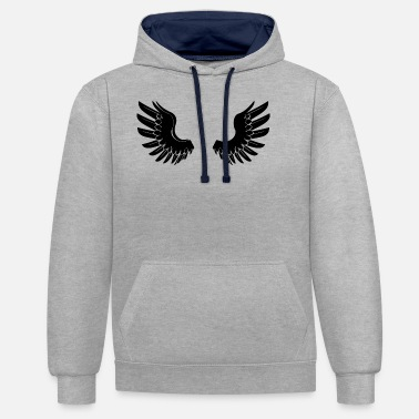 Angelwings Black Angelwings - Felpa con cappuccio bicolore unisex