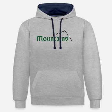 mountains green - Unisex Hoodie zweifarbig