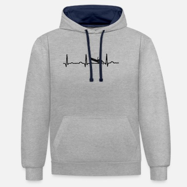 Chain ECG HEARTBEAT CHAIN SAW - Contrast Colour Hoodie