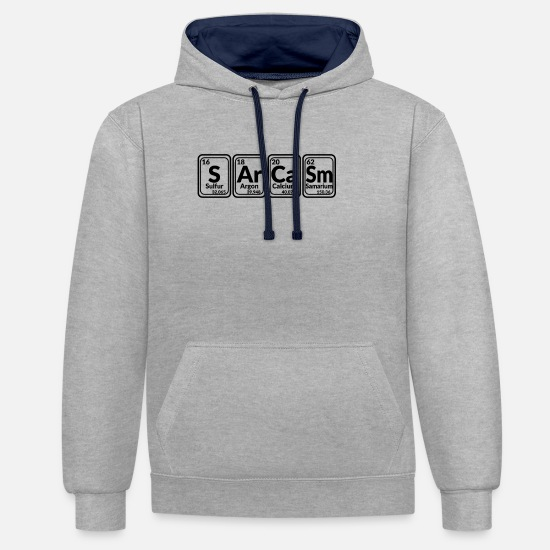 Chemistry Hoodies & Sweatshirts - sarcasm - Unisex Contrast Hoodie heather grey/navy