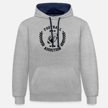 College Football Addiction - Sucht süchtig Ballsport USA - Unisex Hoodie zweifarbig