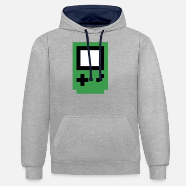 Console green console - Unisex Contrast Hoodie