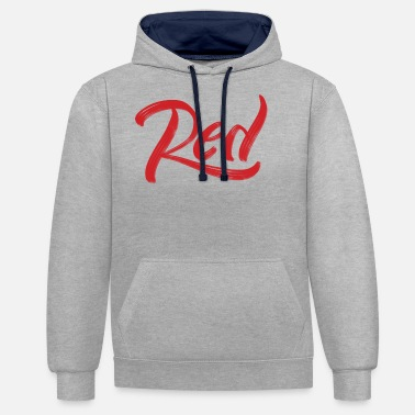Red red - Unisex Contrast Hoodie