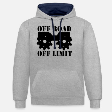 Off Off Road Off Limit - Sweat à capuche contrasté unisexe