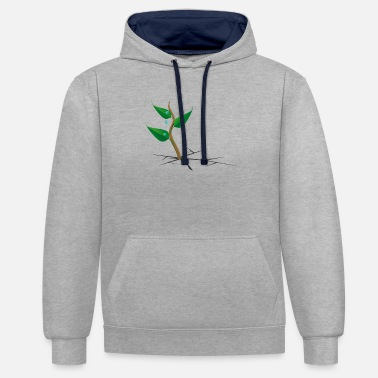 Plant Grounds plant - Unisex Contrast Hoodie
