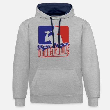 Major League Major League Drink Graphic - Unisex Contrast Hoodie