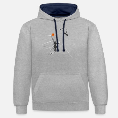 Continous Current Basketball - Unisex Contrast Hoodie