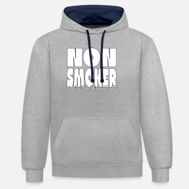 Smoker Smoker smoking cigarette cigar cancer lung - Unisex Contrast Hoodie
