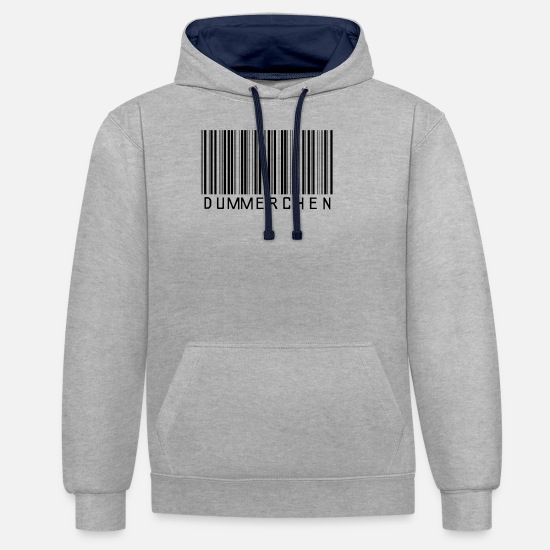 Gift Idea Hoodies & Sweatshirts - silly girlfriend bad luck misfortune - Unisex Contrast Hoodie heather grey/navy