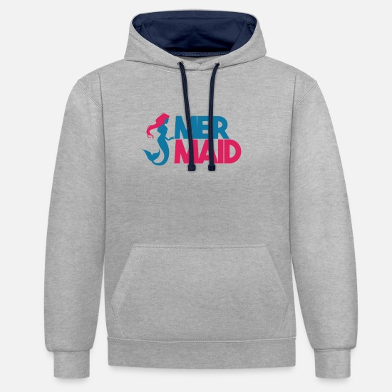 Sealife Hoodies & Sweatshirts - MERMAID - Unisex Contrast Hoodie heather grey/navy