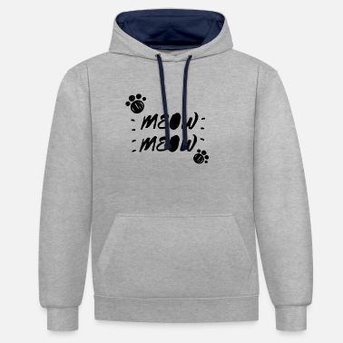 Meow Meow / meow - Unisex Contrast Hoodie