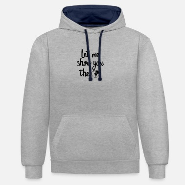 Map travel travel vacation gift idea - Unisex Contrast Hoodie