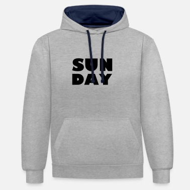 Sunday Sunday - Contrast Colour Hoodie