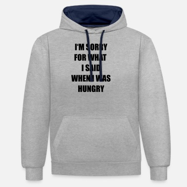 Hungry hungry - Unisex Contrast Hoodie