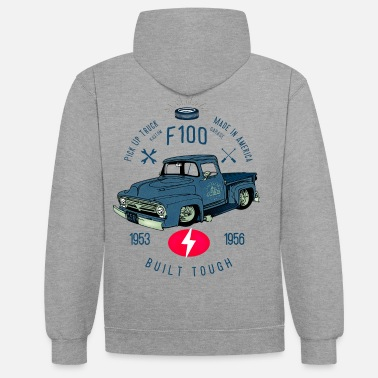Cars F100 Built Tough - Unisex Contrast Hoodie