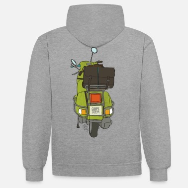 Collection 2 Räder - Unisex Hoodie zweifarbig