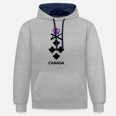 General CANADA Army, Mision Militar ™ - Unisex Contrast Hoodie